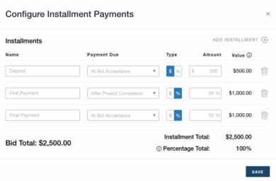 Configure Installment Payments - Tips